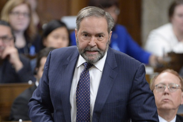 Le chef du NPD, Thomas Mulcair.... (Photo Adrian Wyld, PC)