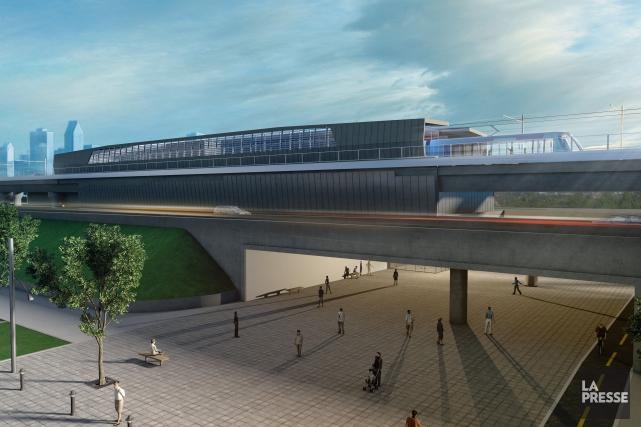 Une maquette du futur train électrique de Montréal... (Photo CDPQ Infra)