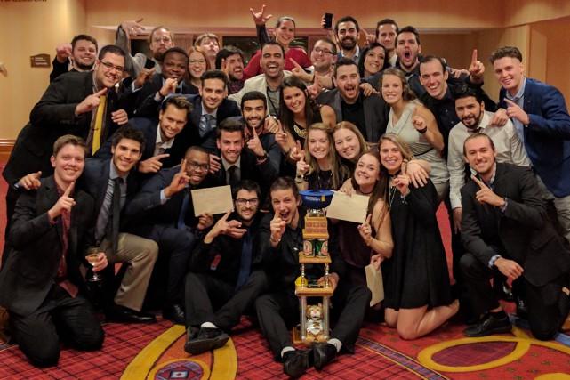 La délégation des étudiants de génie industriel de...