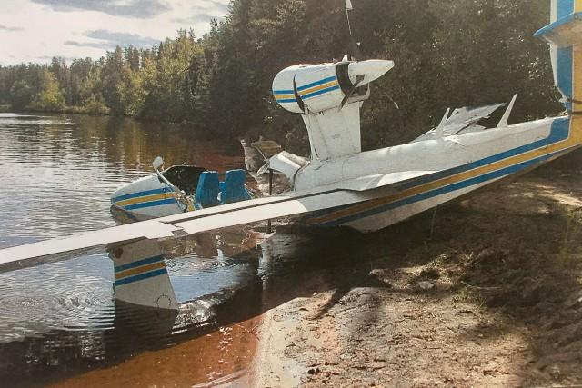 L'avion après l'accident du lac Geoffrion en septembre...