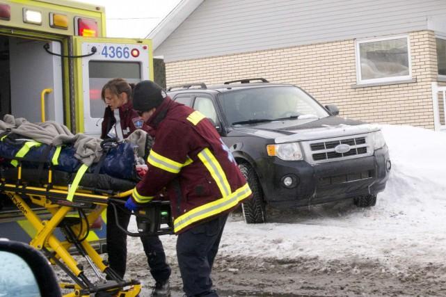 Une collision entre deux véhicules est survenue à... (Sylvain Mayer, Le Nouvelliste)