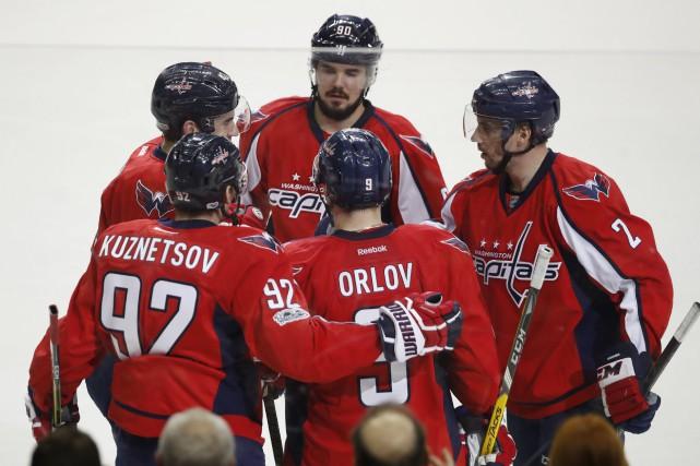 Les Capitals ont défait les Bruins pour une... (Photo Manuel Balce Ceneta, AP)