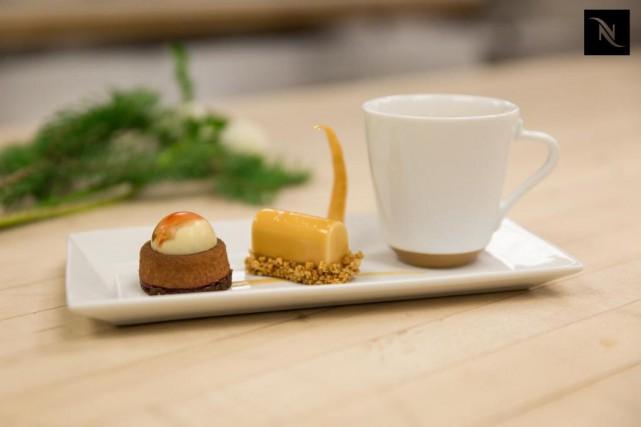 L'assiette de mignardises ayant remporté le Concours Café... (Photo fournie par Nespresso)