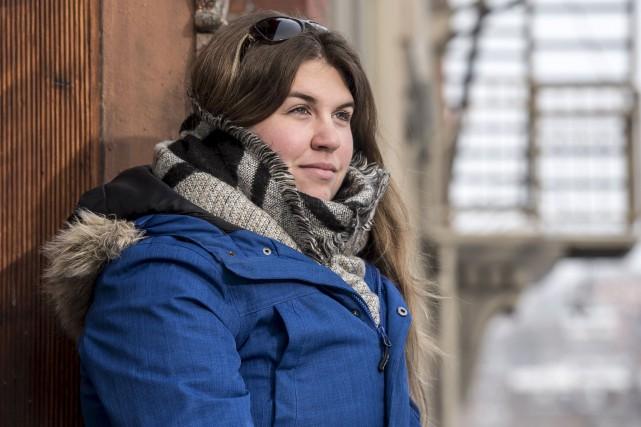 Mélissa Drolet, citoyenne derrière la vigile de lundi.... (Spectre Média, Jessica Garneau)