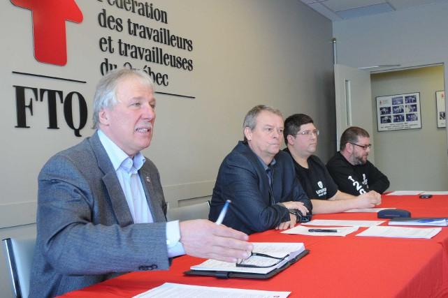 On retrouve Renaud Gagné, directeur québécois d'Unifor, Luc... (Sylvain Mayer, Le Nouvelliste)
