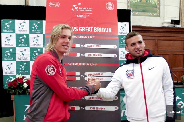Denis Shapovalov, 234eraquette mondiale,affrontera Dan Evans,45eraquette mondiale vendredi... (Patrick Woodbury, Le Droit)