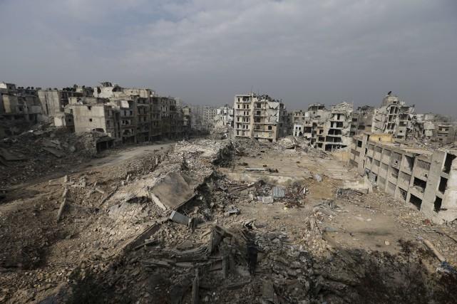 Les combats se poursuivent dans la région d'Alep,... (Archives AP)