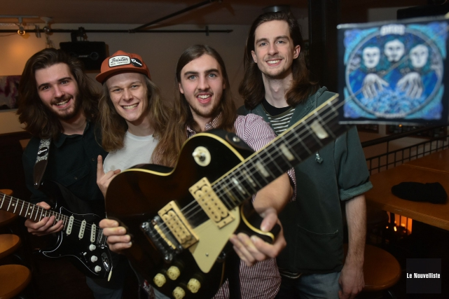 Le groupe rock est composé, de gauche à... (François Gervais, Le Nouvelliste)