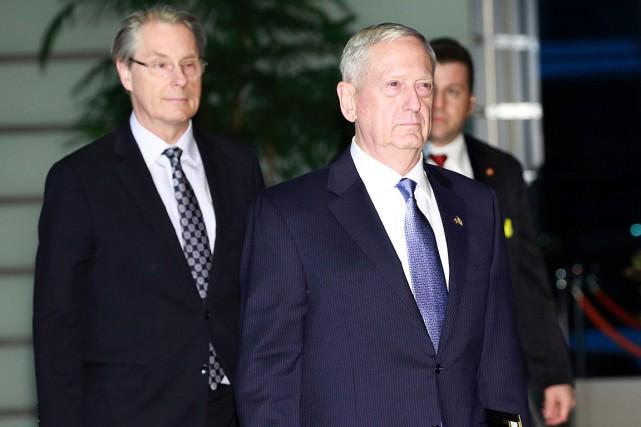 Le nouveau secrétaire à la Défense de Donald... (Photo EUGENE HOSHIKO, AFP)
