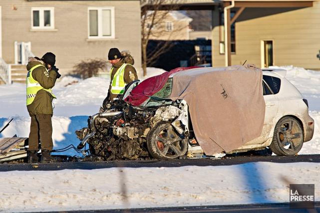 L'état du véhicule de la victime ne laisse... (Photo Patrick Sanfaçon, Archives La Presse)
