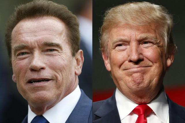 L'acteurArnold Schwarzeneggera répliqué aux moqueries du président américain... (PHOTOSTHOMAS SAMSON ET JEFF KOWALSKY, ASSOCIATED PRESS)