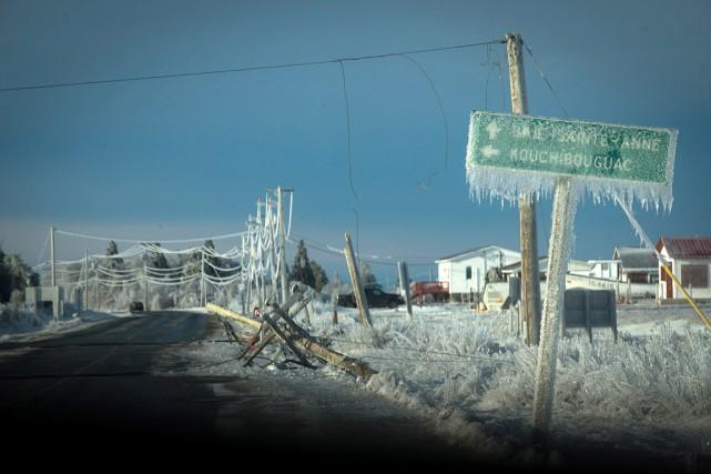 Au plus fort de la tempête au Nouveau-Brunswick,... (Diane Doiron, archives PC)