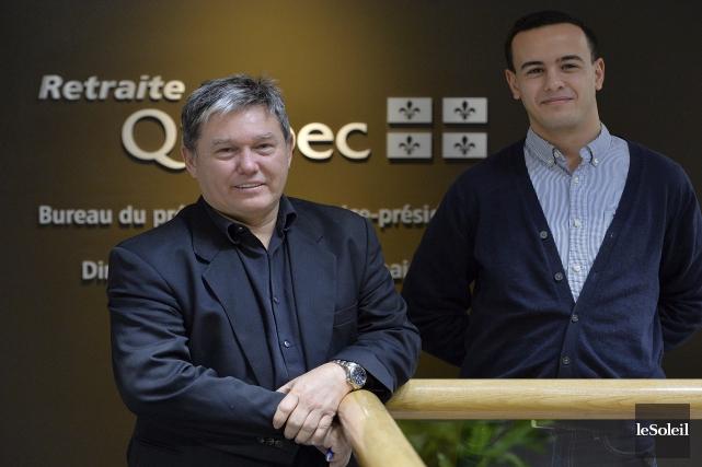 Renaud Bourget et Rafik Benmoussa sont actuaires à... (Le Soleil, Patrice Laroche)