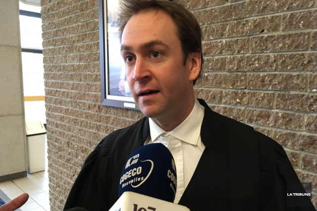 L'avocat de la défense Me Alexandre Tardif avait... (La Tribune, René-Charles Quirion)