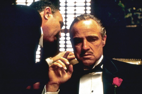 Marlon Brando dans The Godfather... (photo fournie parParamount Pictures)