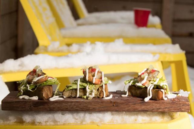 Canapés crevettes miel et habanero.... (PHOTOIVANOH DEMERS, LA PRESSE)