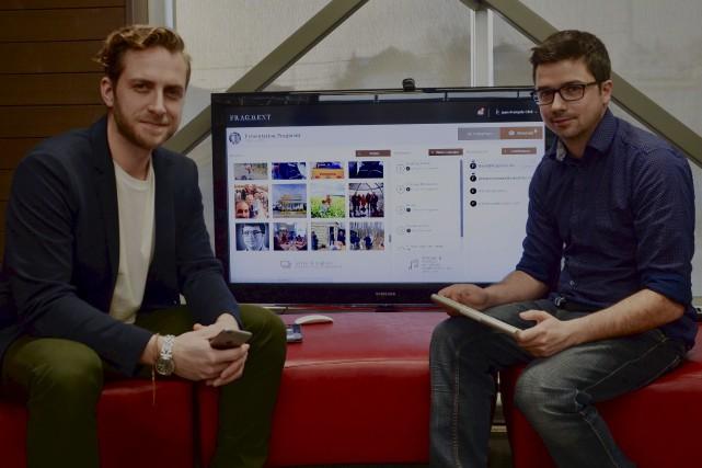 Le thanatologue David Beaulieu et le programmeur Jean-François... (Collaboration spéciale Johanne Fournier)