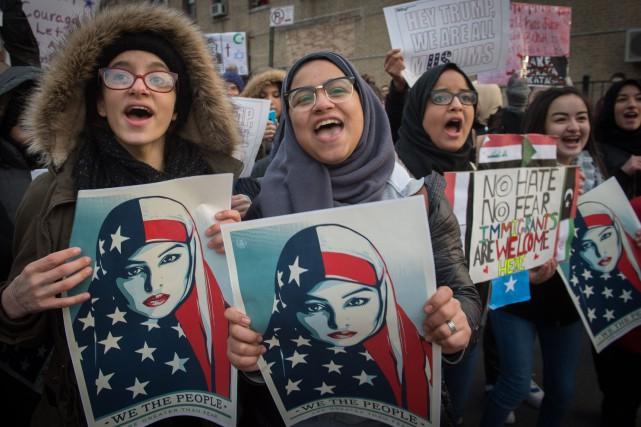 Les manifestations sont très fréquentes à New York... (Photo AFP)