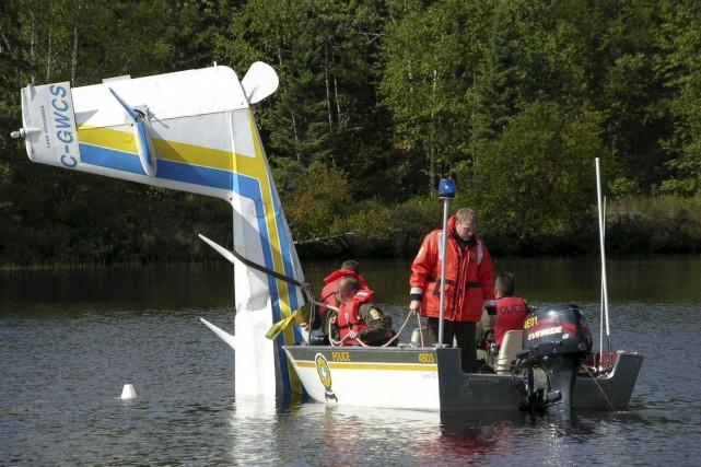 L'accident du lac Geoffrion en septembre 2011....