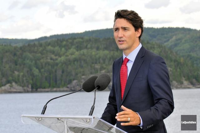 Le premier ministre du Canada Justin Trudeau... (Archives Le Quotidien, Rocket Lavoie)