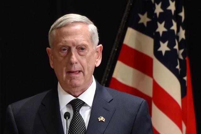 M. Mattis effectue depuis jeudi une tournée en... (Photo AFP)