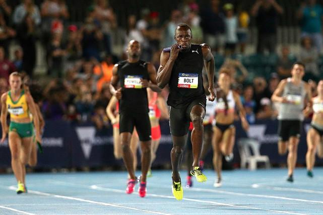 L'équipe d'étoiles d'Usain Bolt a triomphé à l'occasion... (Photo Hamish Blair, REUTERS)
