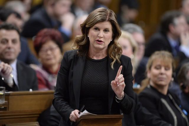La chef par intérim du Parti conservateur du... (La Presse canadienne)