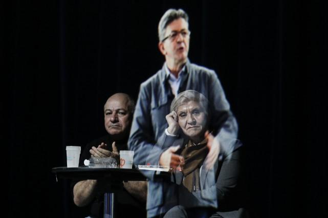 Le candidat de «La France insoumise» s'exprimait à... (Photo AP)