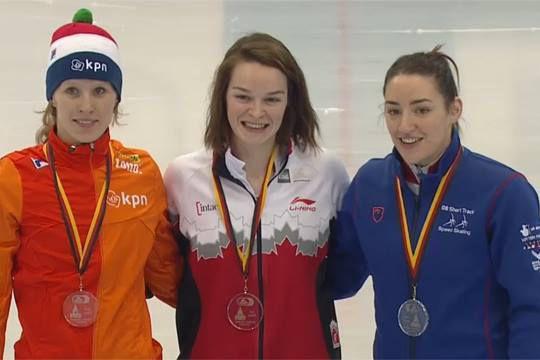 Les patineurs de vitesse sur courte piste ont mis la main sur quatre médailles,... (Photo fournie)