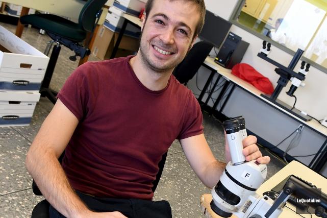 L'étudiant au doctorat à l'Université du Québec à... (Photo Le Quotidien, Rocket Lavoie)