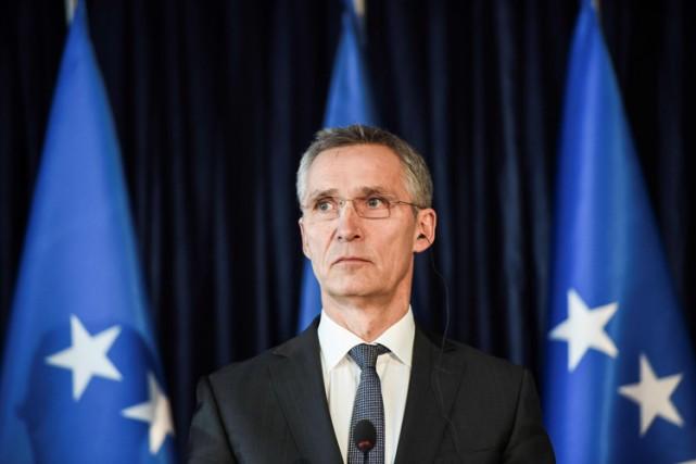 Le secrétaire général de l'OTAN,Jens Stoltenberg.... (PHOTO AFP)