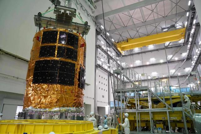 Le cargo «Kounotori» a été assemblé au Centre... (AFP, JAXA)