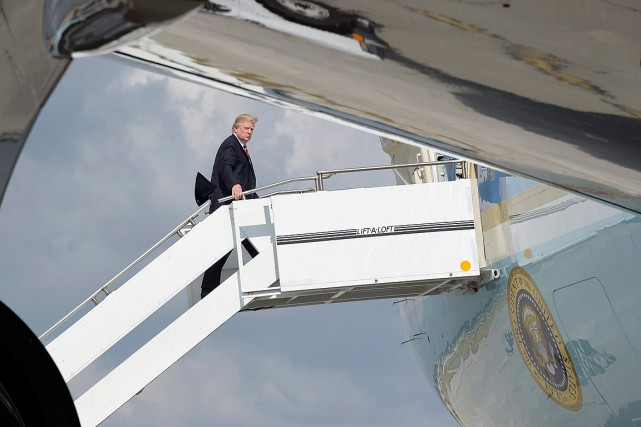 Après avoir passé le week-end at Mar-a-Lago, Donald... (Photo Susan Walsh, AP)