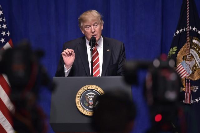 Le président américain Donald Trump a prononcé une... (PHOTO MANDEL NGAN, AGENCE FRANCE PRESSE)