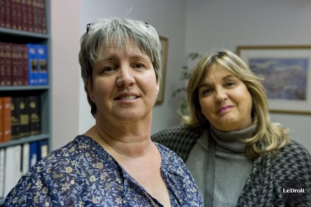 Les conseillères de Lac-Simon, Odette Hébert et Chantal... (Martin Roy, Archives Le Droit)
