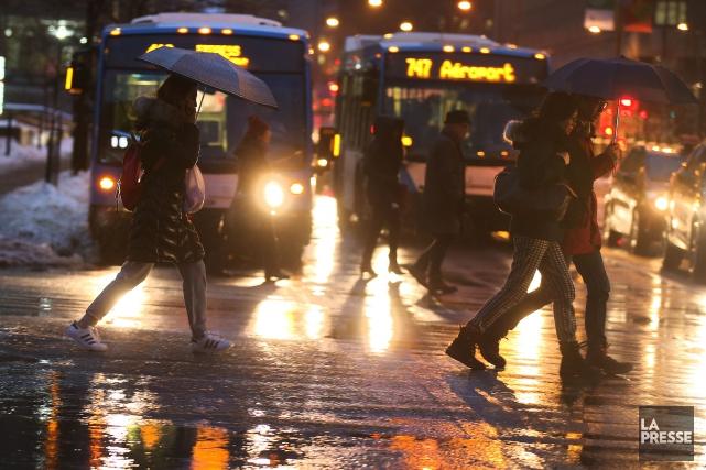 Des alertes ont été émises, notamment pour l'Estrie,... (Photo Martin Chamberland, La Presse)