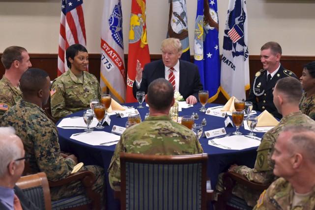 Le président américain, Donald Trump, a pris un... (AFP, Mandel Ngan)