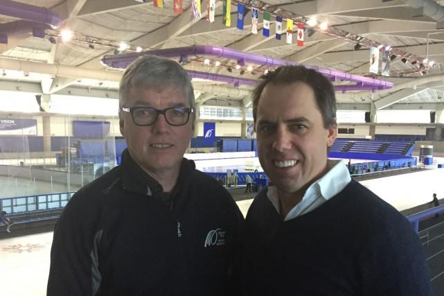 Yves Hamelin (Saint-Séverin) et Éric Bédard (Sainte-Thècle) contribuent... (Marcel Lacroix)