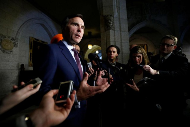 Le grand argentier du pays Bill Morneau sera... (PHOTO REUTERS)