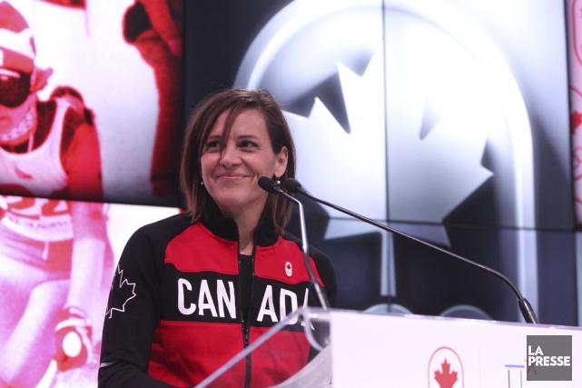 La Bromontoise et triple médaillée olympique Isabelle Charest... (Martin Chamberland, La Presse)