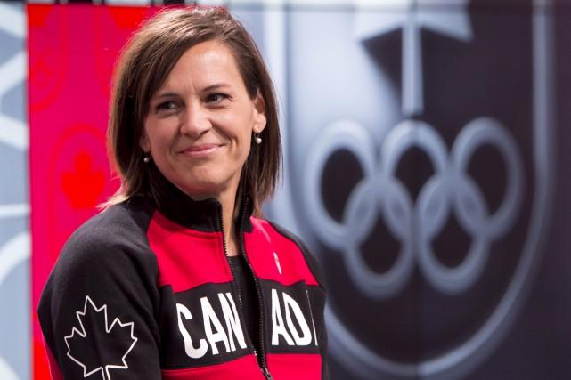 L'ex-patineuse de vitesse de courte piste Isabelle Charest... (La Presse canadienne, Paul Chiassson)