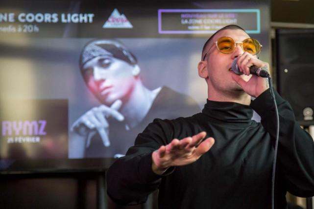 Le rappeur Rymz a donné un avant-goût de... (PHOTO MARTIN LEBLANC, LA PRESSE)