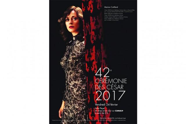 L'actrice Marion Cotillard est en vedette sur l'affiche... (IMAGE FOURNIE PAR L'ACADÉMIE DES CÉSARS)