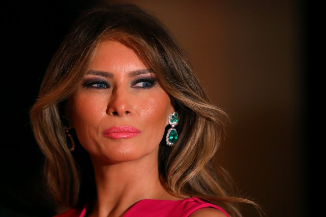 Melania Trump exige 150 millions de dollars de dommages... (Photo Carlos Barria, Archives REUTERS)