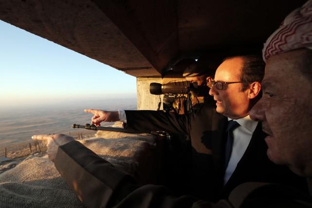 Le président français François Hollande a visité l'Irak... (Photo Christophe Ena, archives AP)