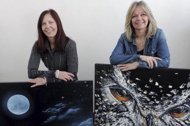 Josée Poirier et Helen Couture présentent leur exposition... (fournie)
