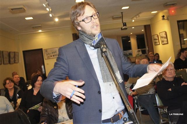David Morin est un des porte-parole du groupe... (La Tribune, Jean-François Gagnon)