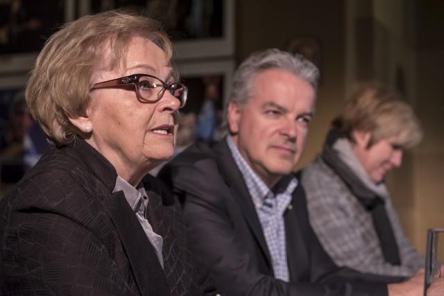 Colette Roy Laroche, ex-mairesse de Lac-Mégantic, Bernard Sévigny,... (Spectre Média, Jessica Garneau)