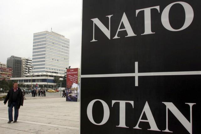 Donald Trump a réaffirmé mardi l'engagement des États-Unis vis-à-vis de l'OTAN... (PHOTO REUTERS)