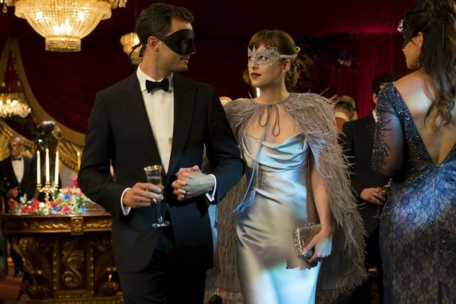 Jamie Dornan (Christian Grey) et Dakota Johnson (Anastasia... (fournie par Universal Pictures)